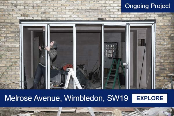 Kitchen and House extension project in Wimbledon
