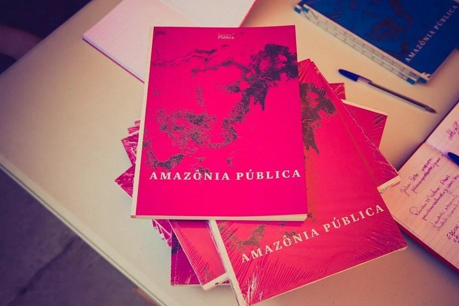 No evento houve a distribuição gratuita do livro Amazônia Pública nas versões em português e em inglês. Foto: Felipe Di Pietro