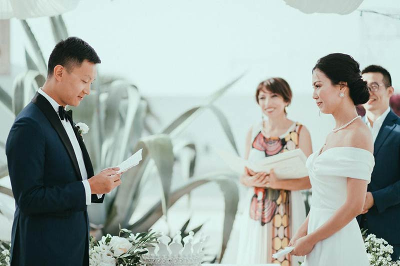 Wedding ceremony in Masseria Potenti
