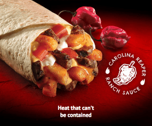 Screen grab of email from Taco Bell announcing Carolina Reaper Sauce.