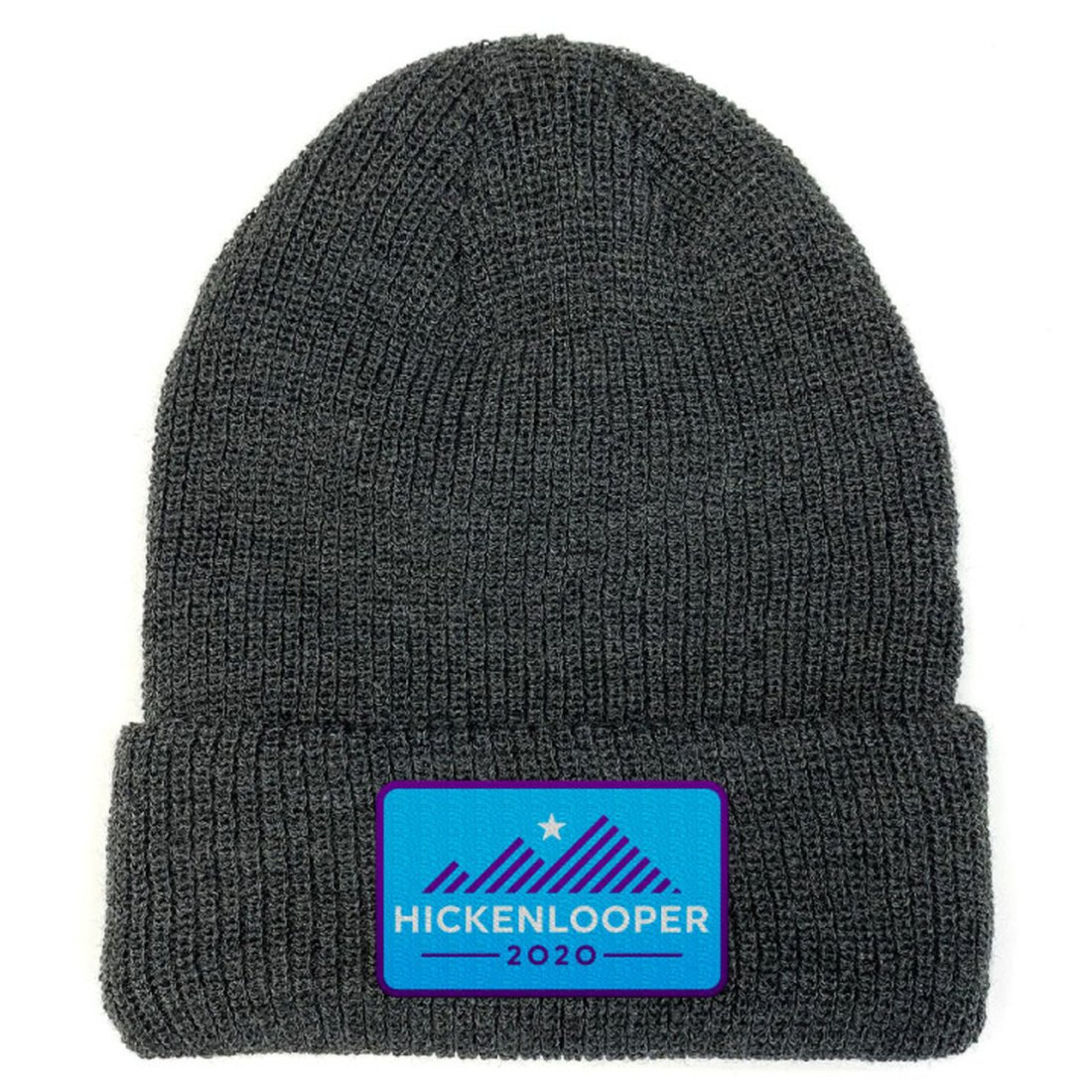 Hickenlooper 2020 Official Logo -- Charcoal Beanie (hickenlooper.com)