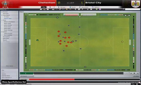 Football Manager 2009 Screenshot 2, Full Version, PC Game, Download Free