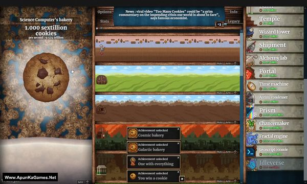 Cookie Clicker Screenshot 1, Full Version, PC Game, Download Free