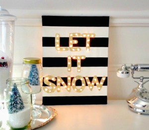 Winter Marquee Sign