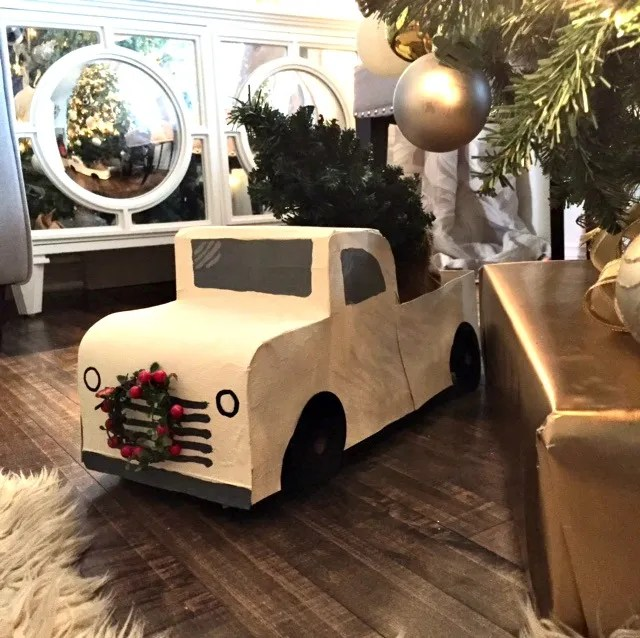 DIY Christmas tree truck