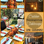 Outdoor Thanksgiving Tablescape & Giveaway