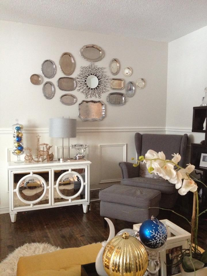 Plate Wall in Living Room / Living Room Transformation / apurdylittlehouse.com
