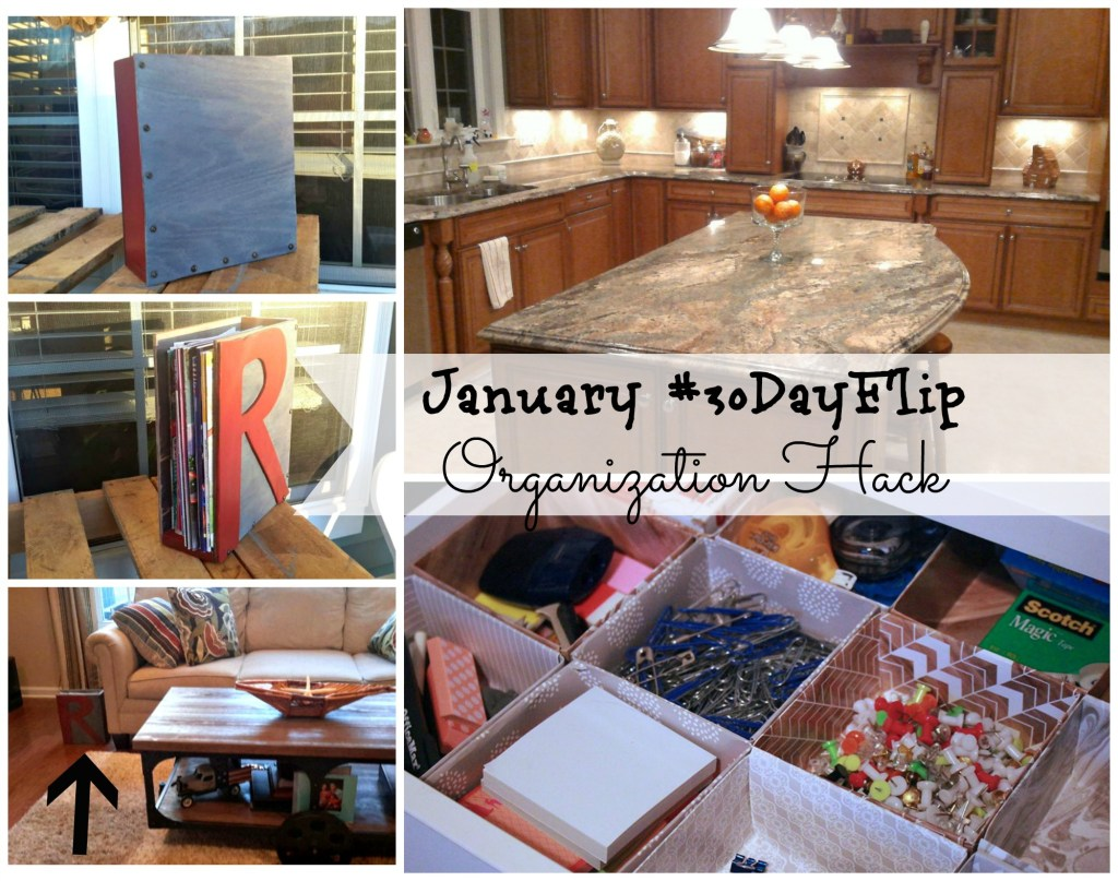 January 30 day flip Challenge / Organization hack / organizing ideas / organize / apurdylittlehouse.com
