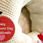 Easy Valentine's Day Knit Wreath