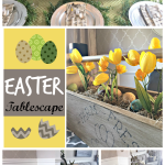 Easter Tablescape / How to set a perfect table for Easter / Decorating for Easter / Spring table setting / apurdylittlehouse.com