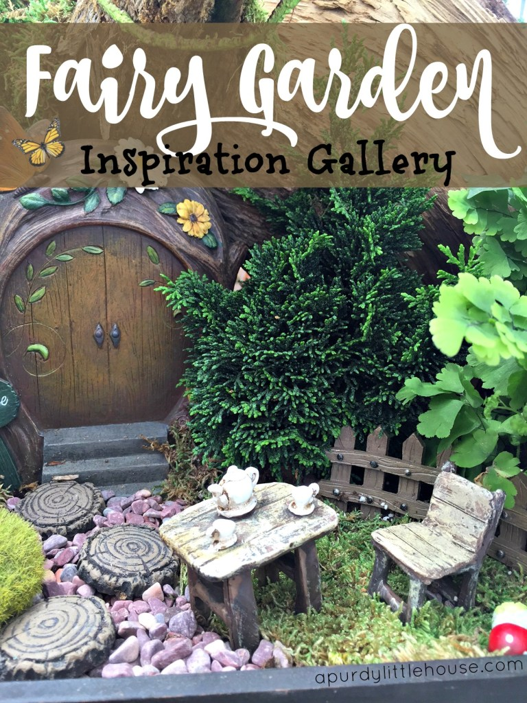 How to make an adorable fairy garden the easy way Fairy Garden Inspiration Gallery Miniatures apurdylittlehouse.com
