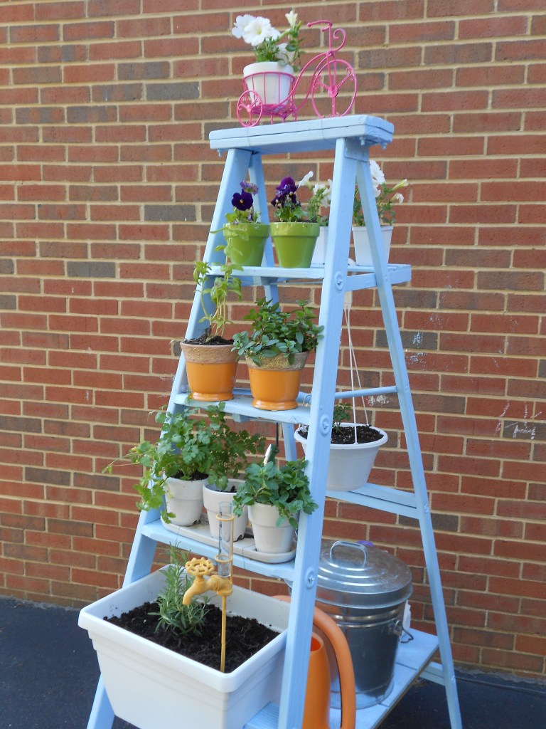 DIY Ladder Garden How to transform an old ladder into stylish garden decor
