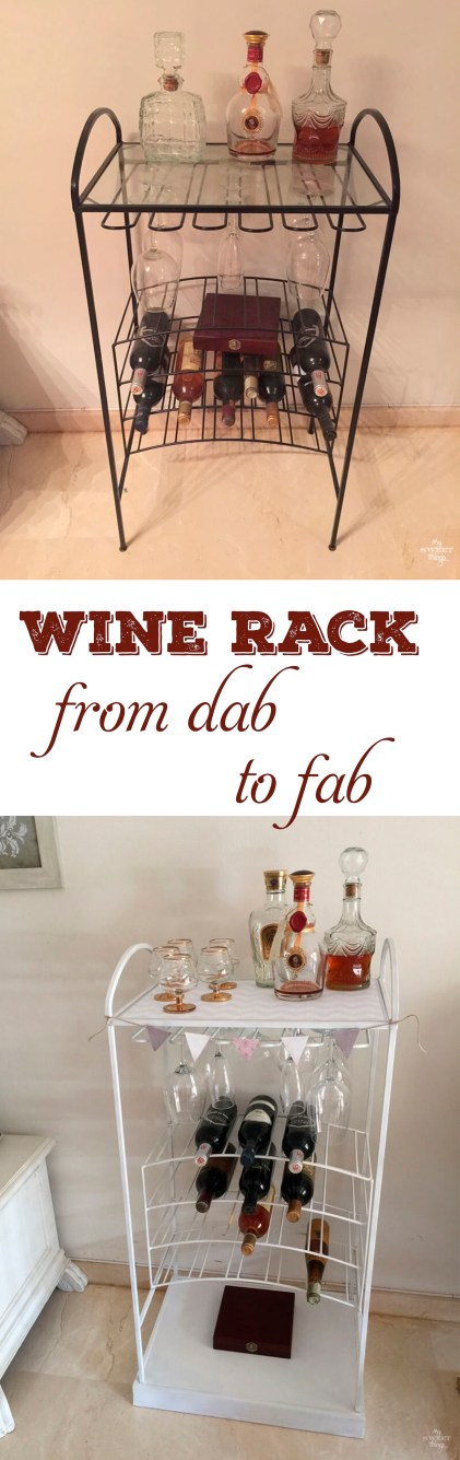 Furniture Upcycle of an old barcart How to transform a barcart using paint #30dayflip