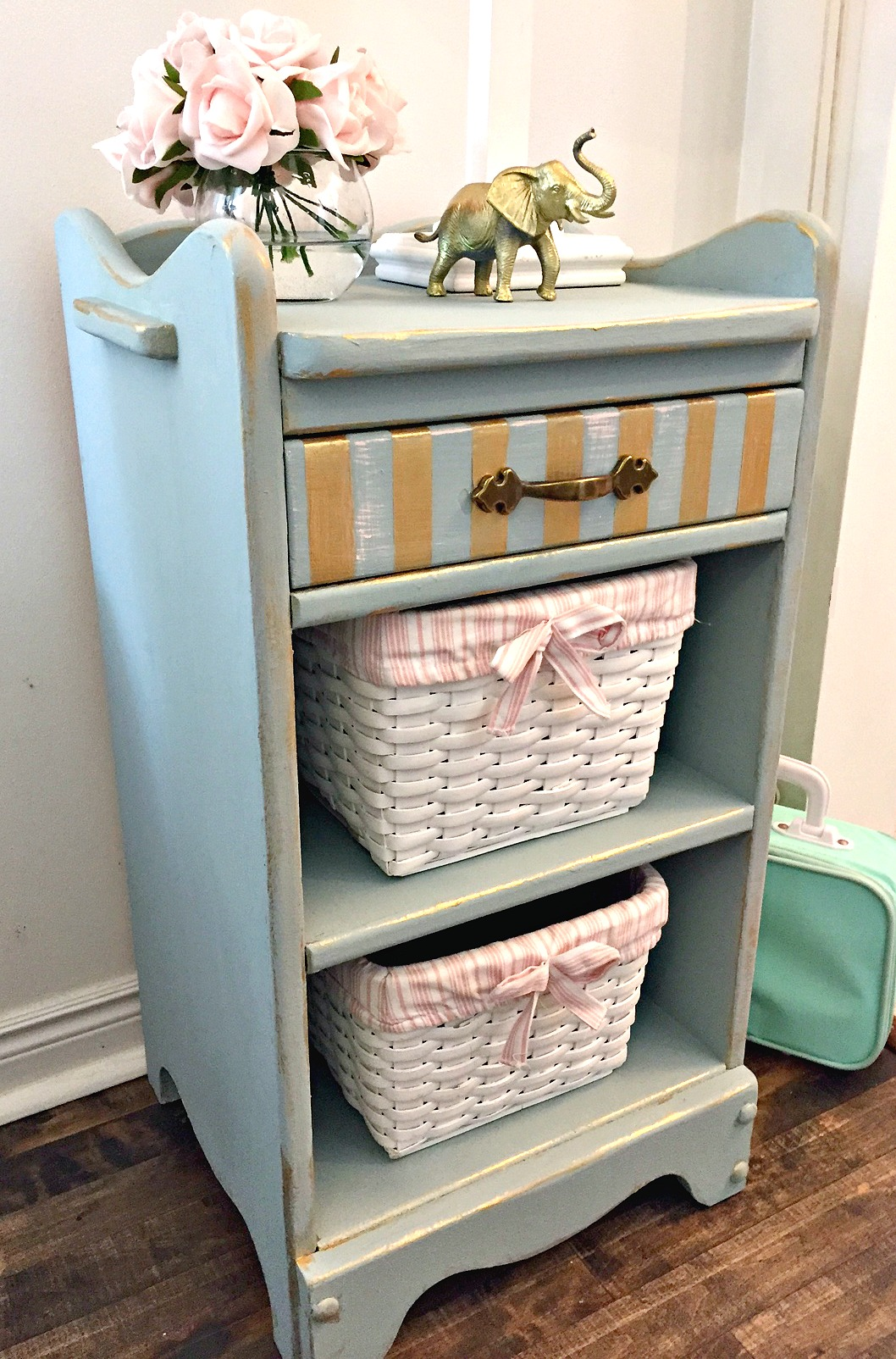 Girly Night Table Upcycle For The Fab Furniture Flippin Challenge. I Made  Over This Little
