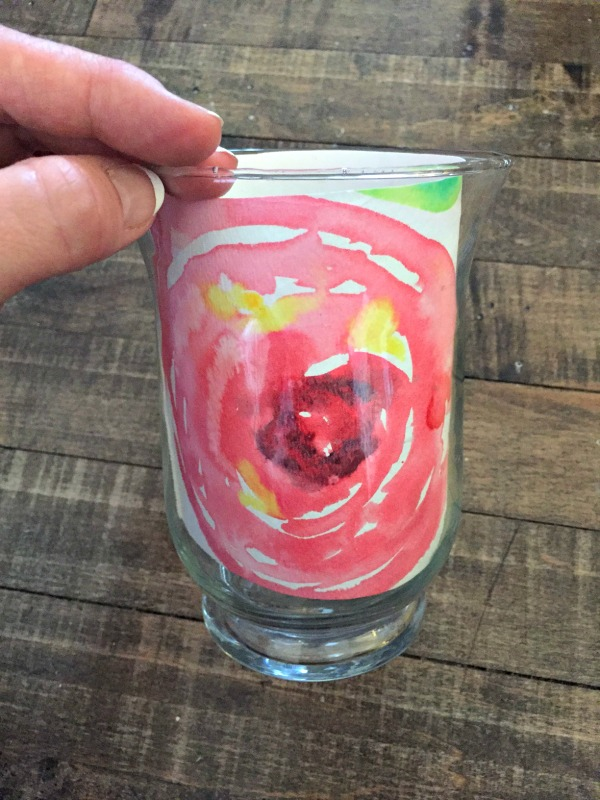 How to create DIY art for Spring Decor for the 30 day flip Watercolour Roses for beginners and how to stage a barcart for Spring or Mother's Day apurdylittlehouse.com