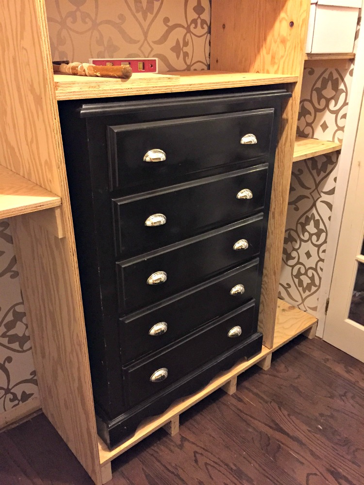 Master bedroom closet makeover a purdy little house - Storage for small bedroom without closet ...