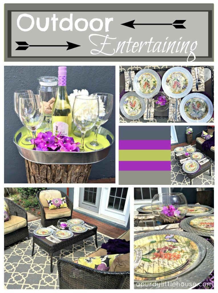Outdoor Entertaining Ideas for the #summerspectacular. Dining al fresco is always a great way to welcome guests this with easy table setting on apurdylittlehouse.com 12