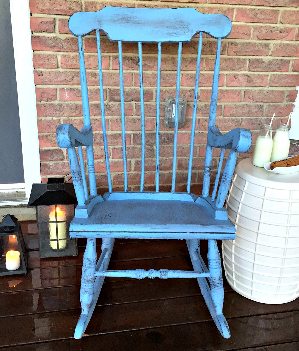 Farmhouse Distressed Rocking Chair / Rocker Makeover And Milk Paint 101  With Old Fashioned Milk Paint