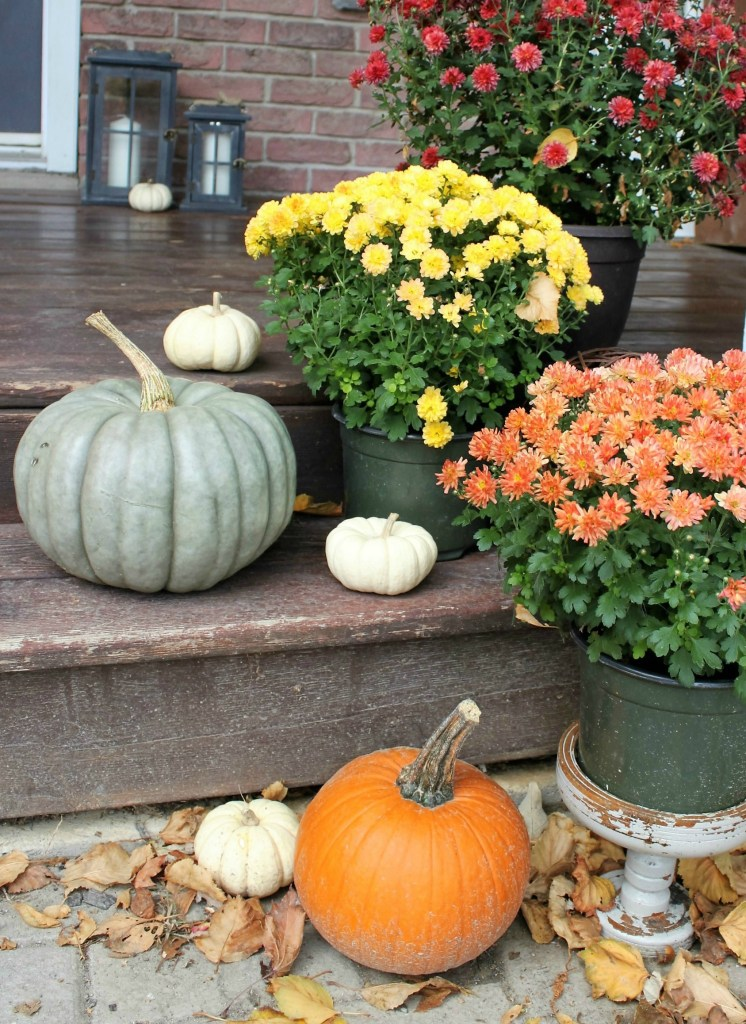 Fall Home Tour Entryway. Check out how I got my house ready for Fall at apurdylittlehouse.com