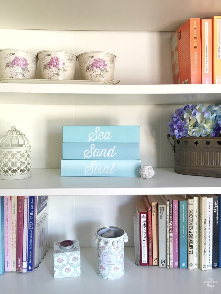 August #30dayflip Challenge to Make Something out of Nothing inspired this amazing Sea and Sisal wood block sign by Pili from sweetthings.net