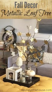 Fall Decor – Metallic Leaf Tree
