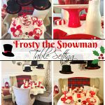Frosty the Snowman Table Setting