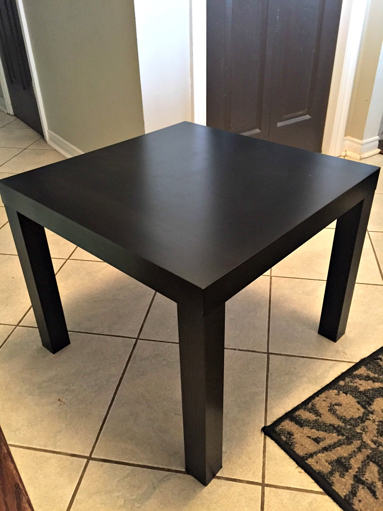 ikea hack how i turned an ikea side table into a christmas tree base a purdy little house. Black Bedroom Furniture Sets. Home Design Ideas