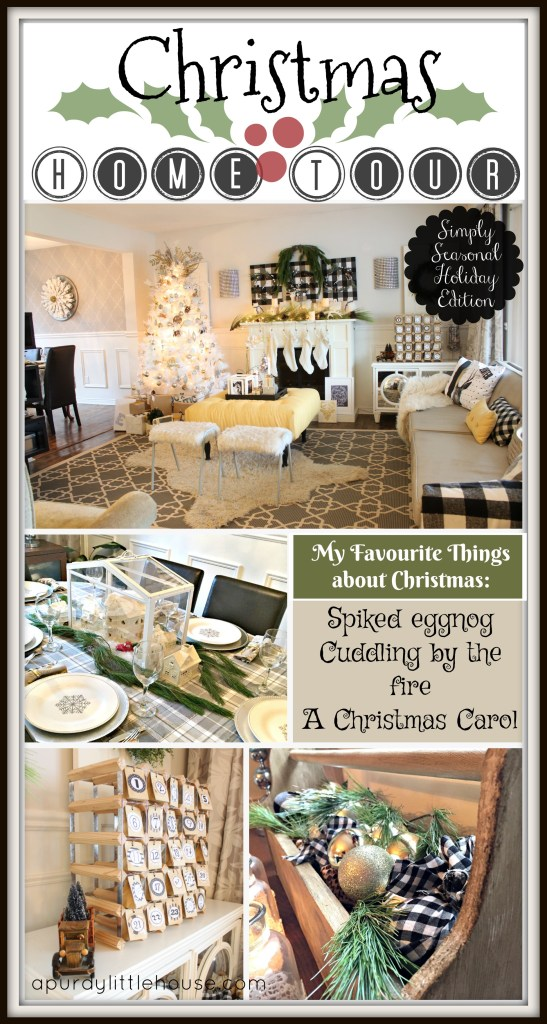 The Simply Seasonal Holiday Edition Christmas Home Tour featuring apurdylittlehouse.com