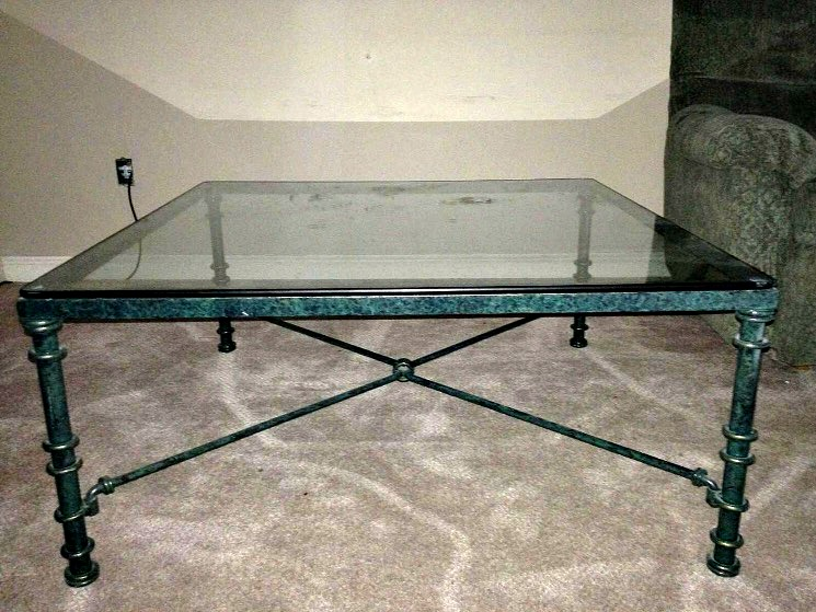 Faux Marble Coffee Table. See How I Transformed This Out Dated Glass