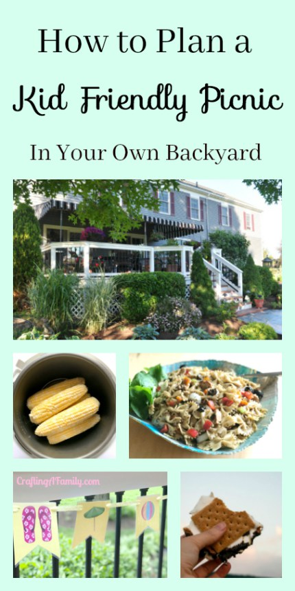 Backyard Summer Picnic and kid friendly camp-out ideas