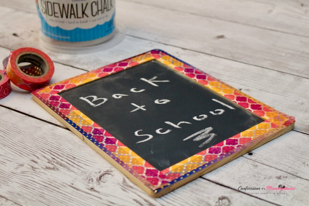 DIY Washi Tape Picture Frame Chalkboard