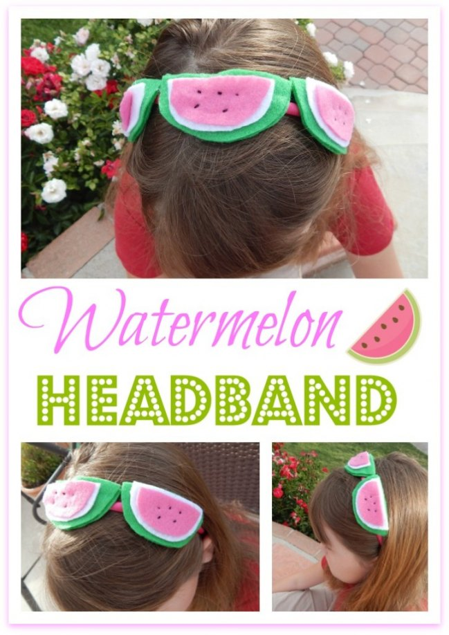 DIY Watermelon Headband