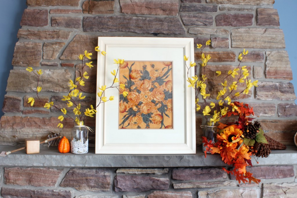 Fall Home Tour with Rustic Fireplace Mantel
