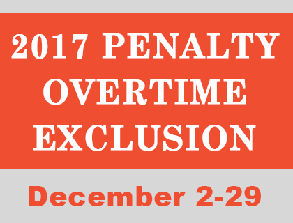 2017 Penalty Overtime Exclusion Period Apwu South Jersey Area