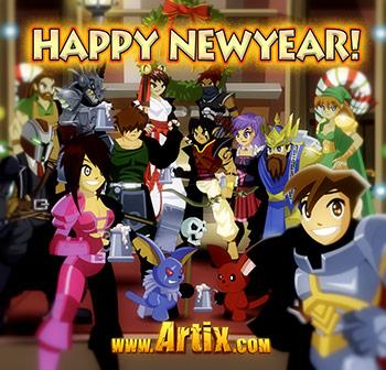 Feliz Ano Novo de Artix Entertainment