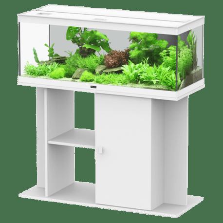 aquarium aquatlantis style led 100 blanc tout equipe 124 litres