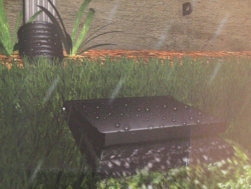 Gutter End Roof Rain