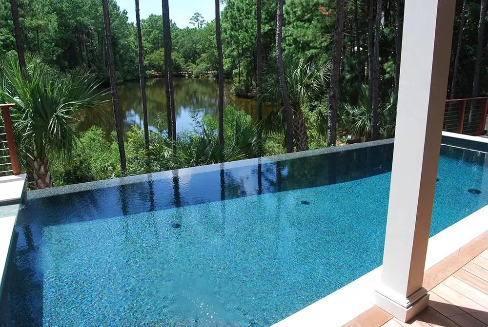 Vanishing Edge Pool Aqua Blue Pools Swimming Pools