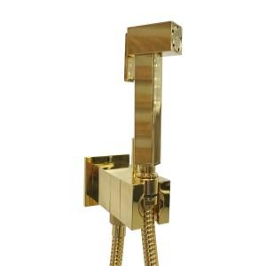 Padlock KSPAQ101ORO 09 Гигиенический душ со смесителем скрытого монтажа, с обратным клапаном, шланг 120 см, золото
