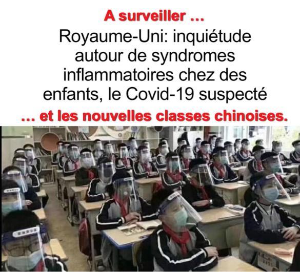 Surveillance syndromes inflammatoires chez enfants