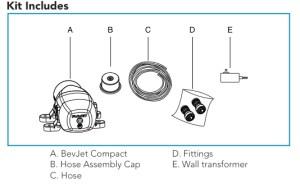 BevJet Kit Includes