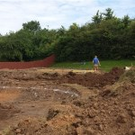 Digging begins on bottom pond