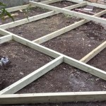 Wooden deck in Bath framework