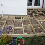 Deck base on existing patio in Bristol