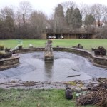 Pond being restored