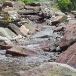 Wildlife pond: Small gradients require small waterfalls