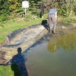 Commercial pond liner repair