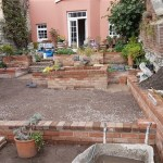 Reclaimed brick water features