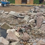 Pebble blends with rock to give a natural looking channel