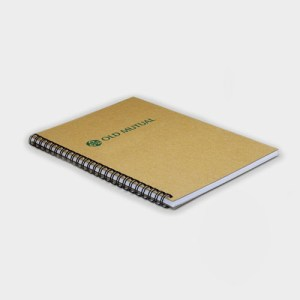 A5 Wirebound Natural Board Notebook – Recycled